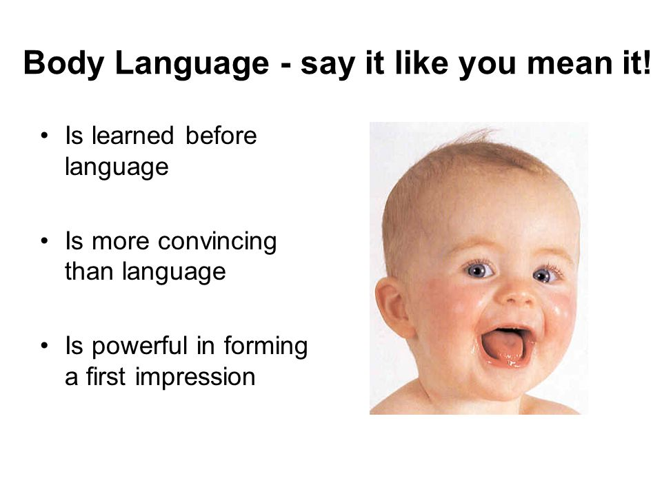 Body Language - say it like you mean it!