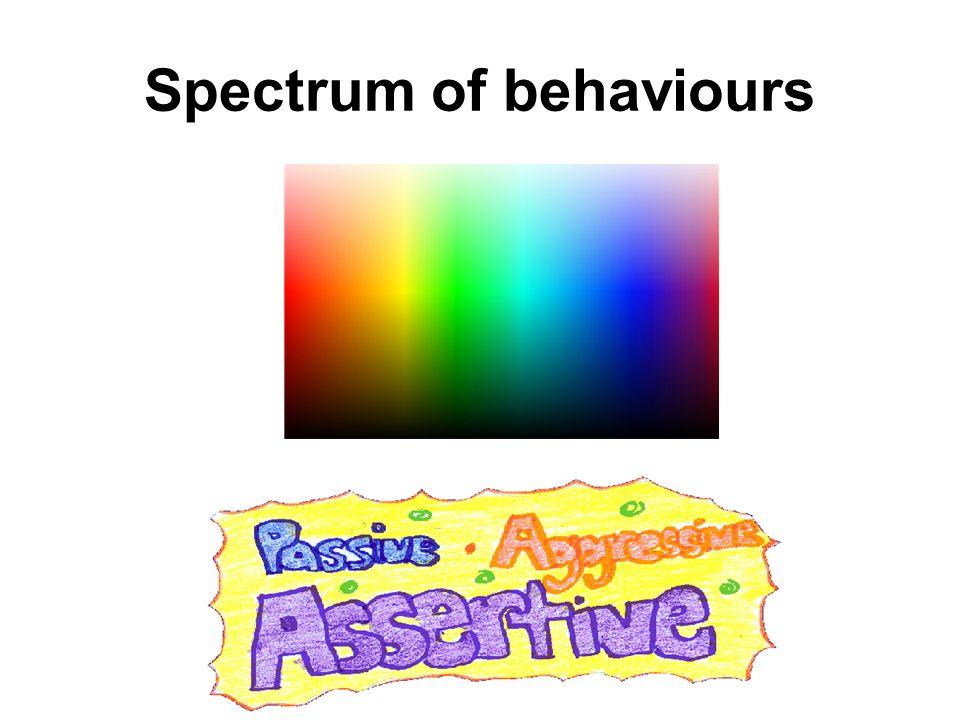 Spectrum of behaviours