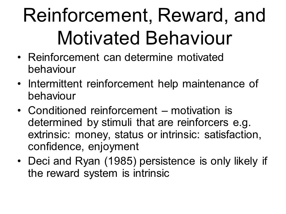 Reinforcement, Reward, and Motivated Behaviour
