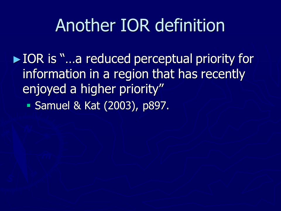 Another IOR definition