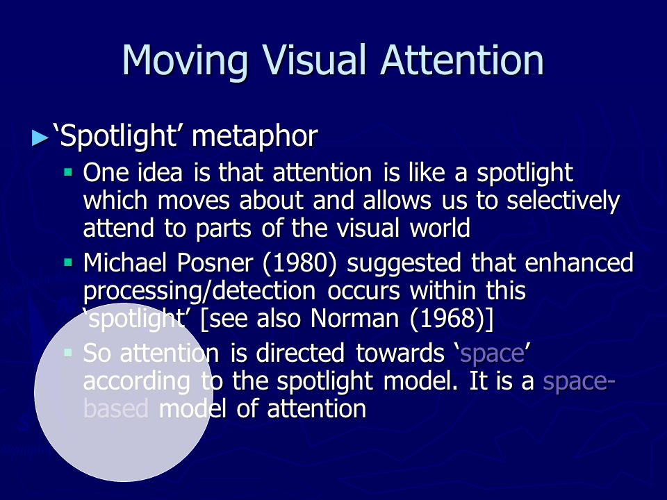 Moving Visual Attention