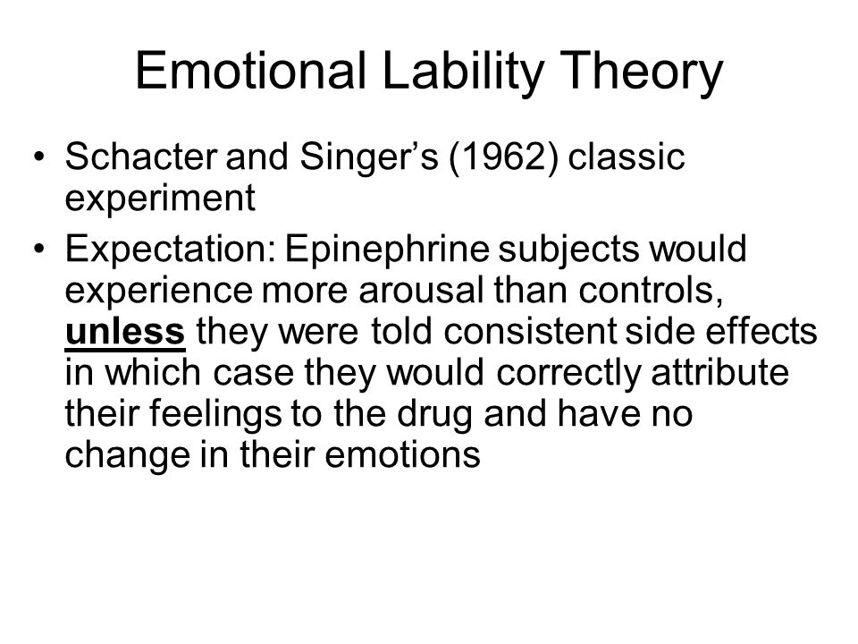 Emotional Lability Theory