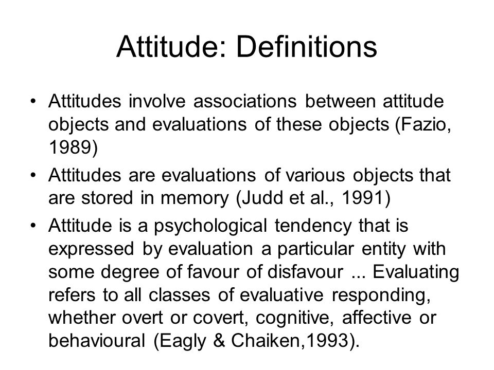 Attitude: Definitions