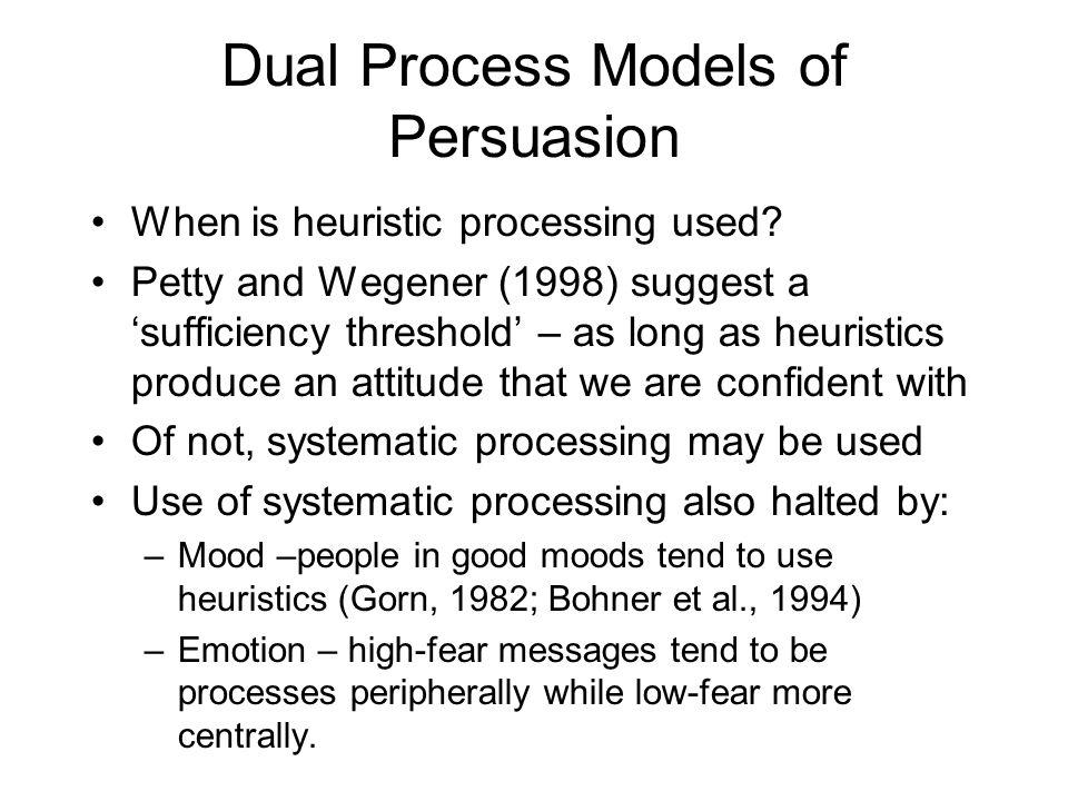 Dual Process Models of Persuasion