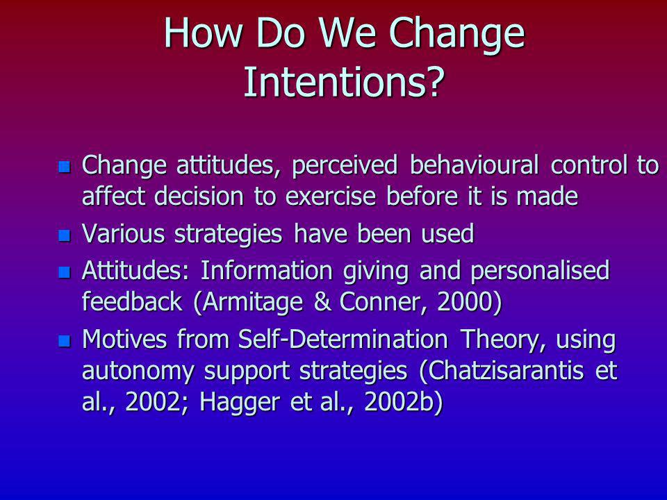How Do We Change Intentions