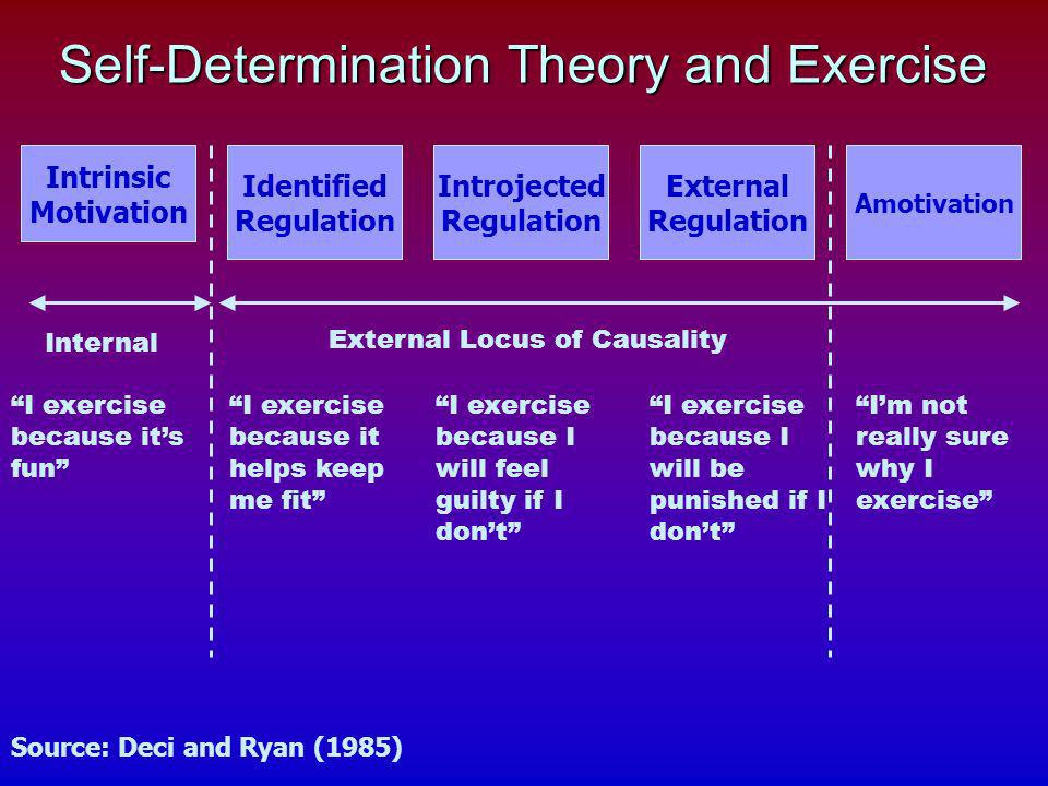 Self-Determination Theory and Exercise