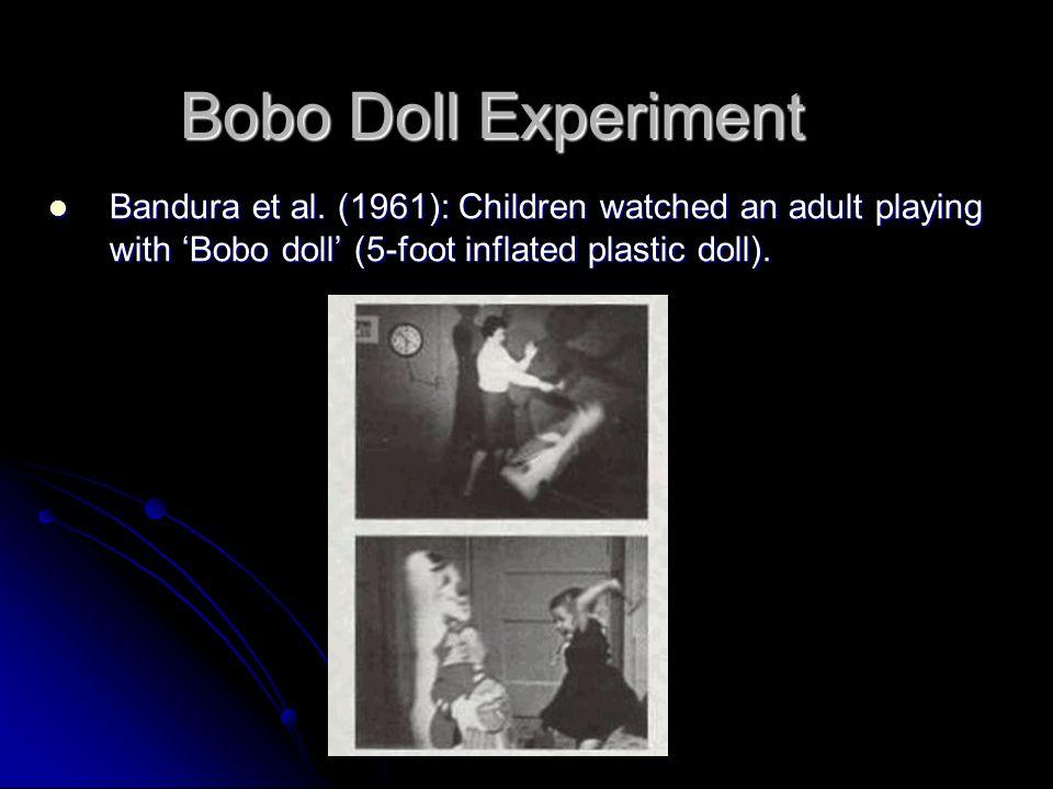 Bobo Doll Experiment Bandura et al.