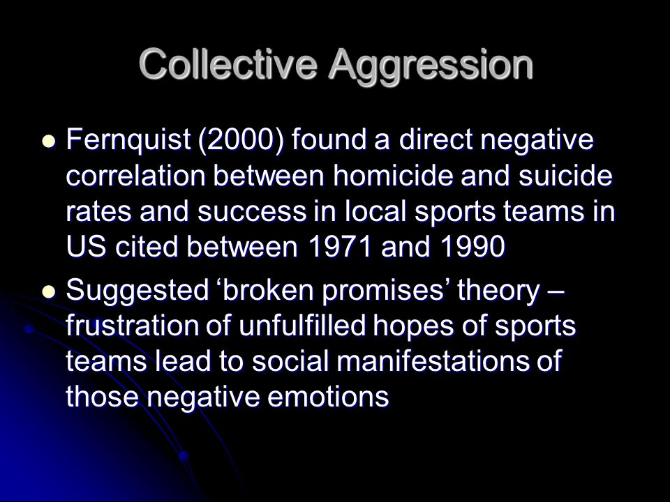 Collective Aggression