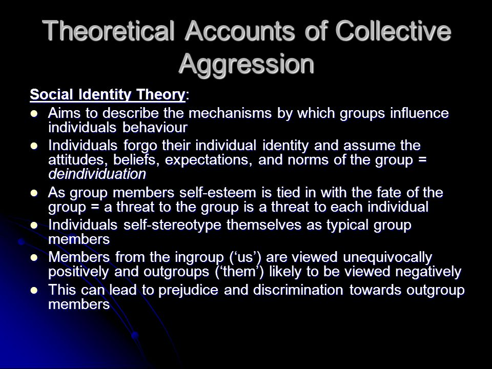 Theoretical Accounts of Collective Aggression