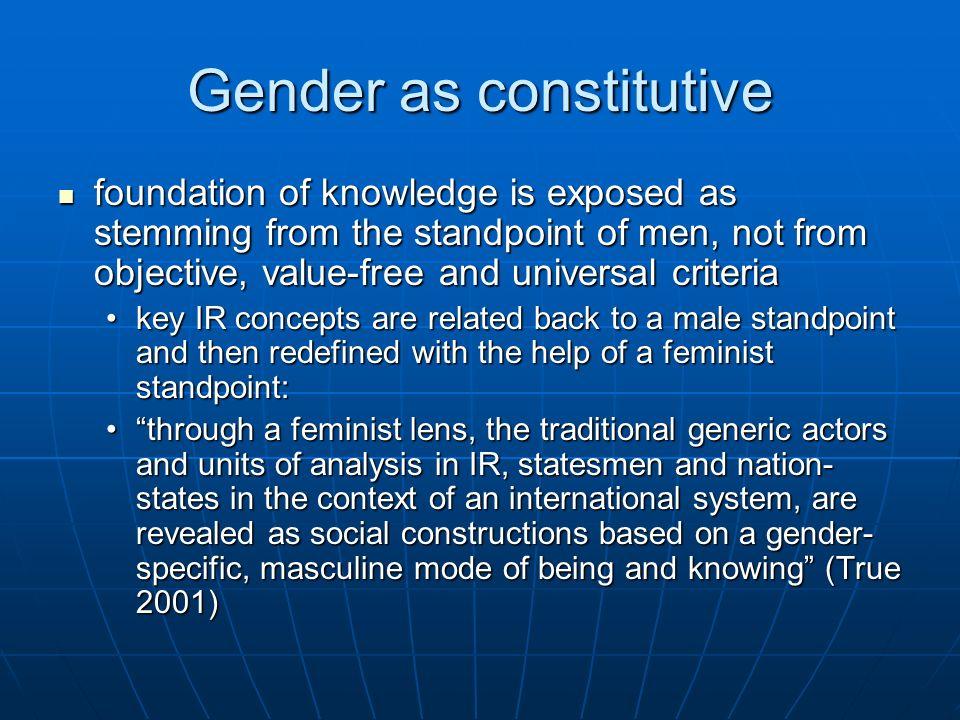 Gender as constitutive