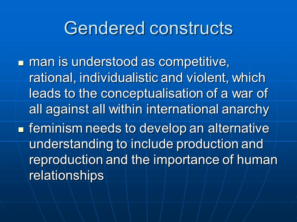 Gendered constructs