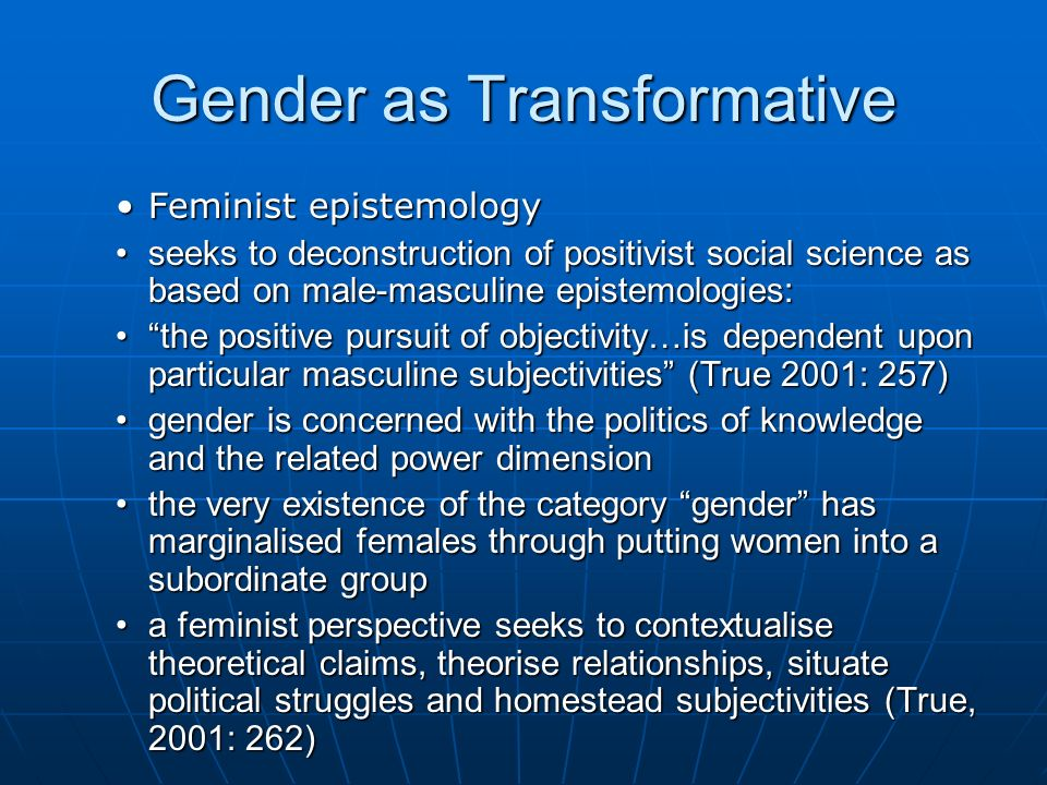 Gender as Transformative