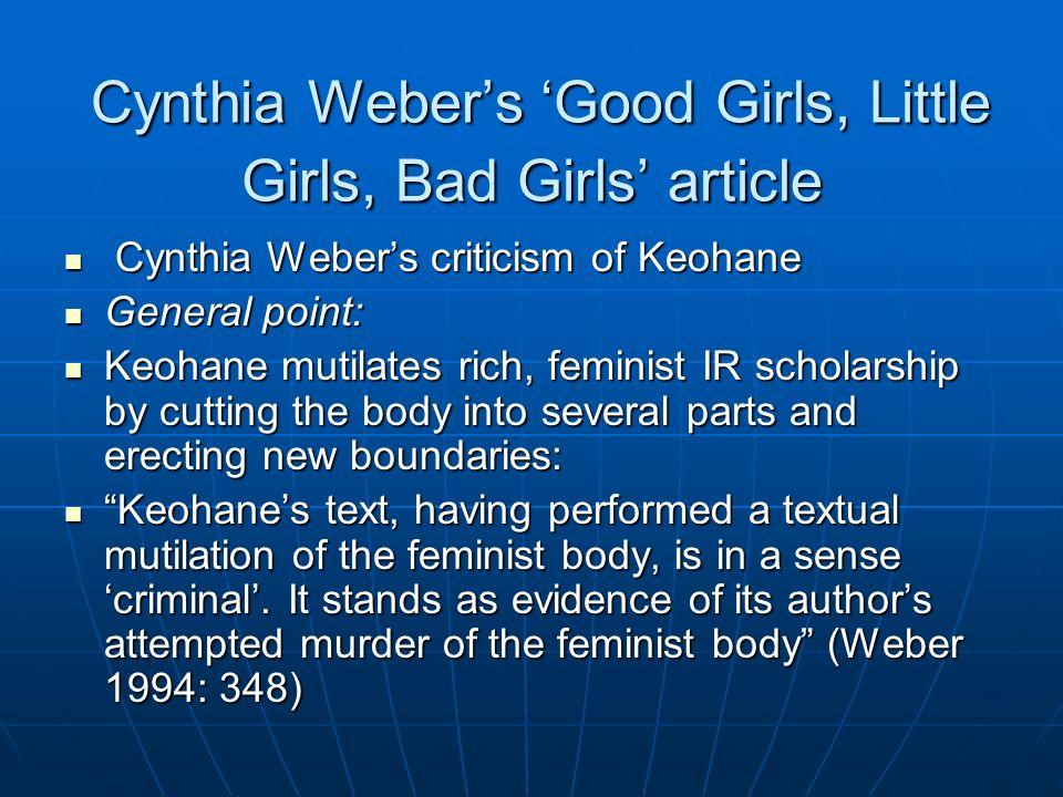 Cynthia Weber's 'Good Girls, Little Girls, Bad Girls' article