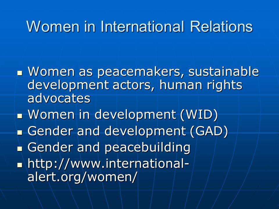 Women in International Relations