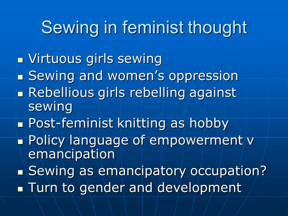 Sewing in feminist thought