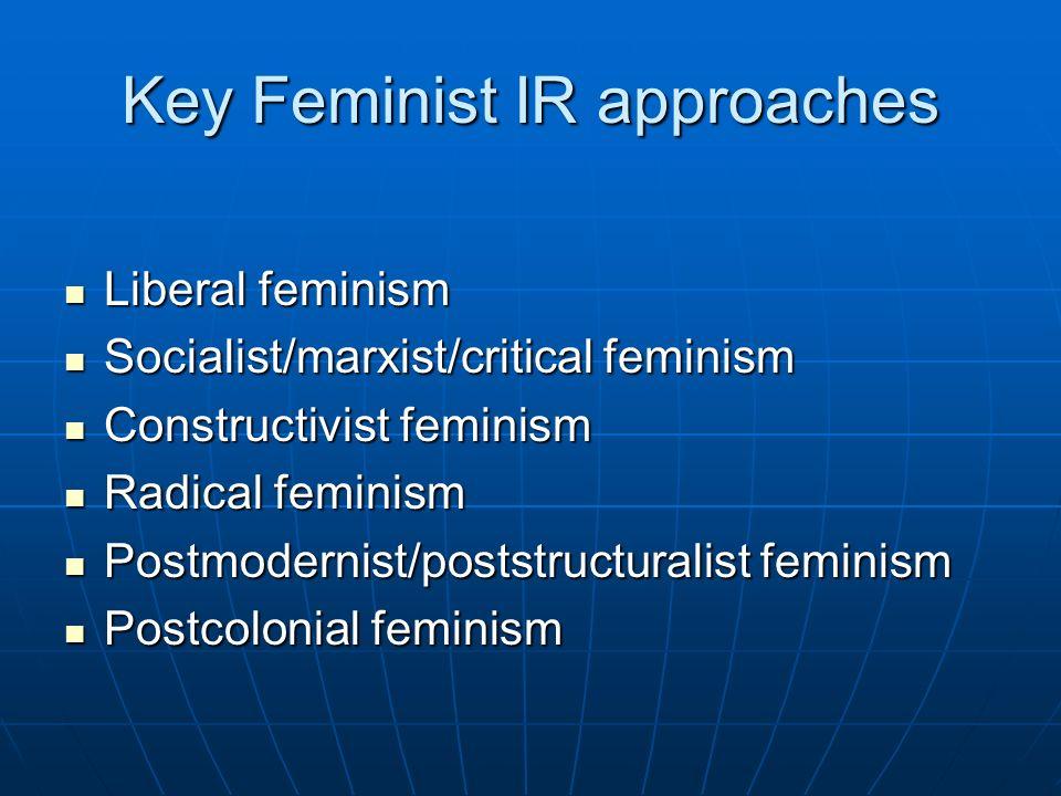 Key Feminist IR approaches