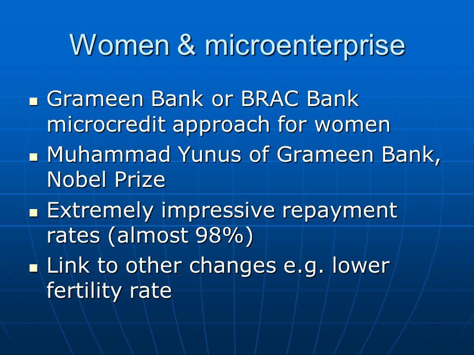 Women & microenterprise