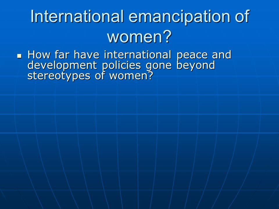 International emancipation of women
