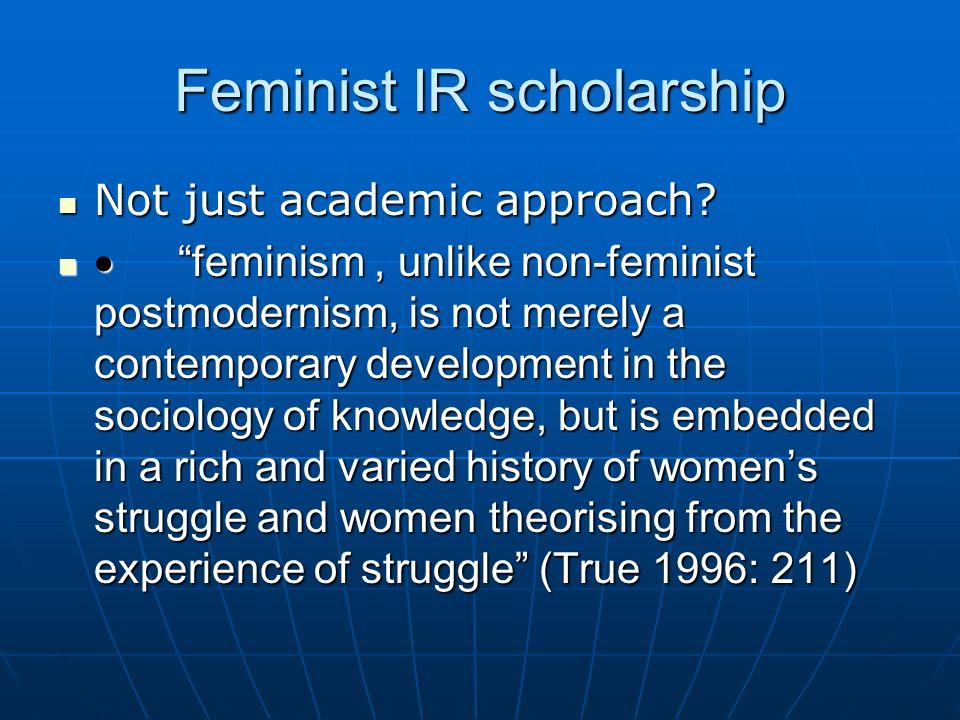 Feminist IR scholarship