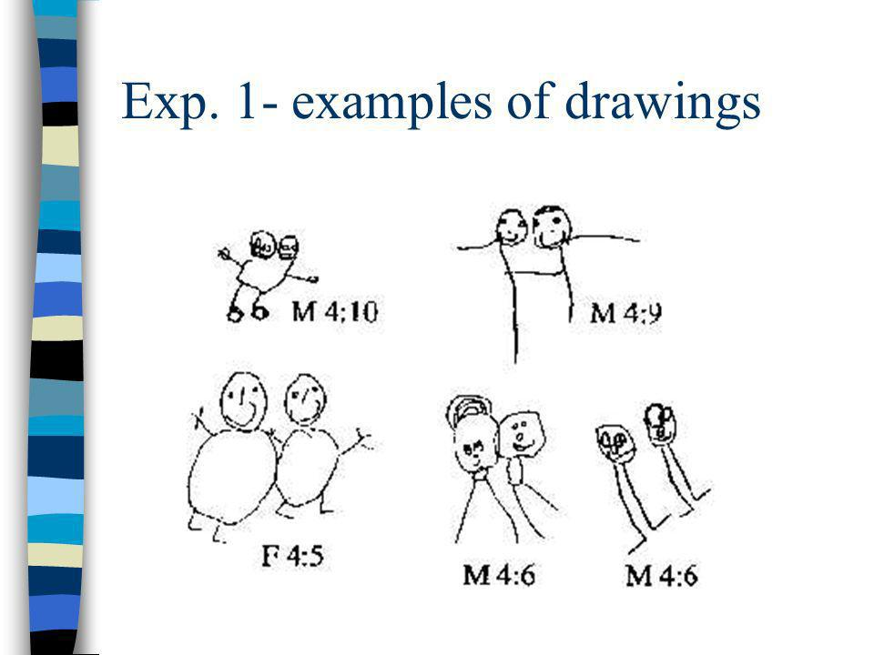 Exp. 1- examples of drawings