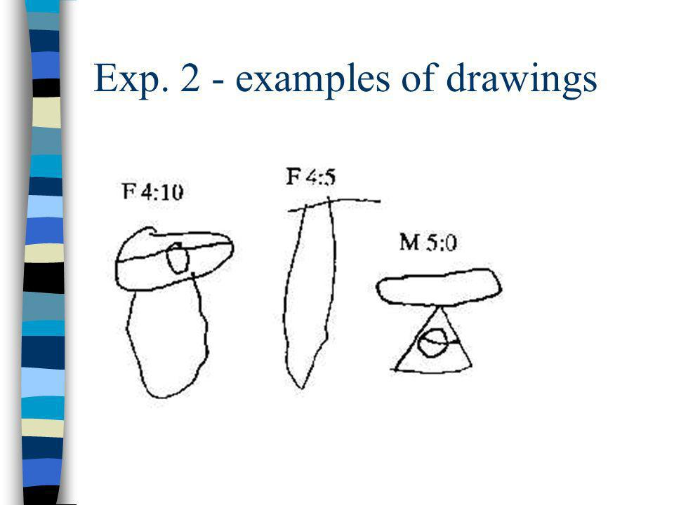 Exp. 2 - examples of drawings