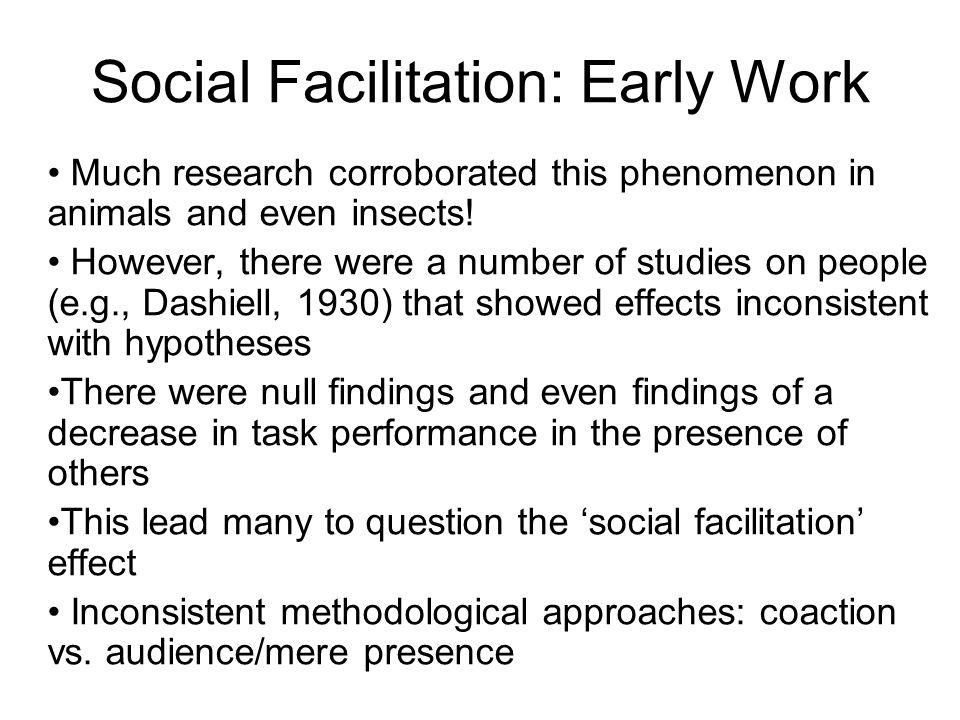 Social Facilitation: Early Work