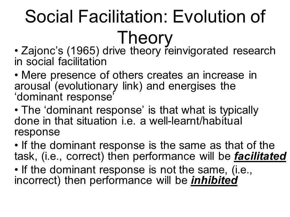 Social Facilitation: Evolution of Theory