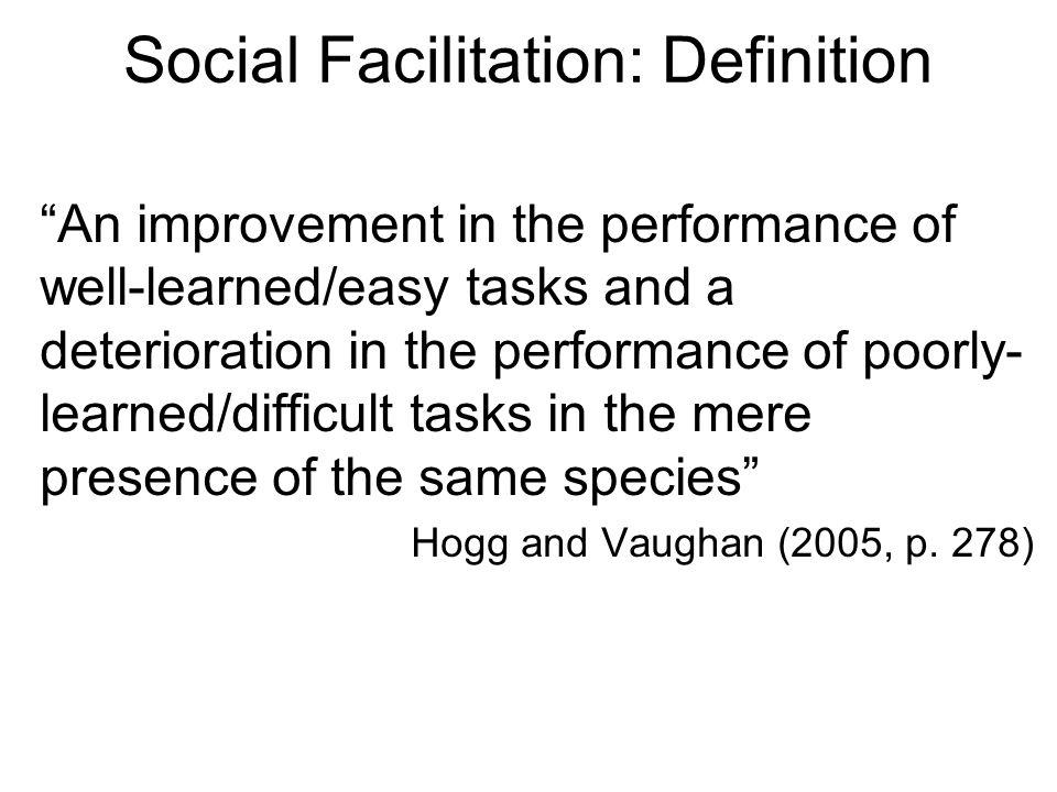 Social Facilitation: Definition