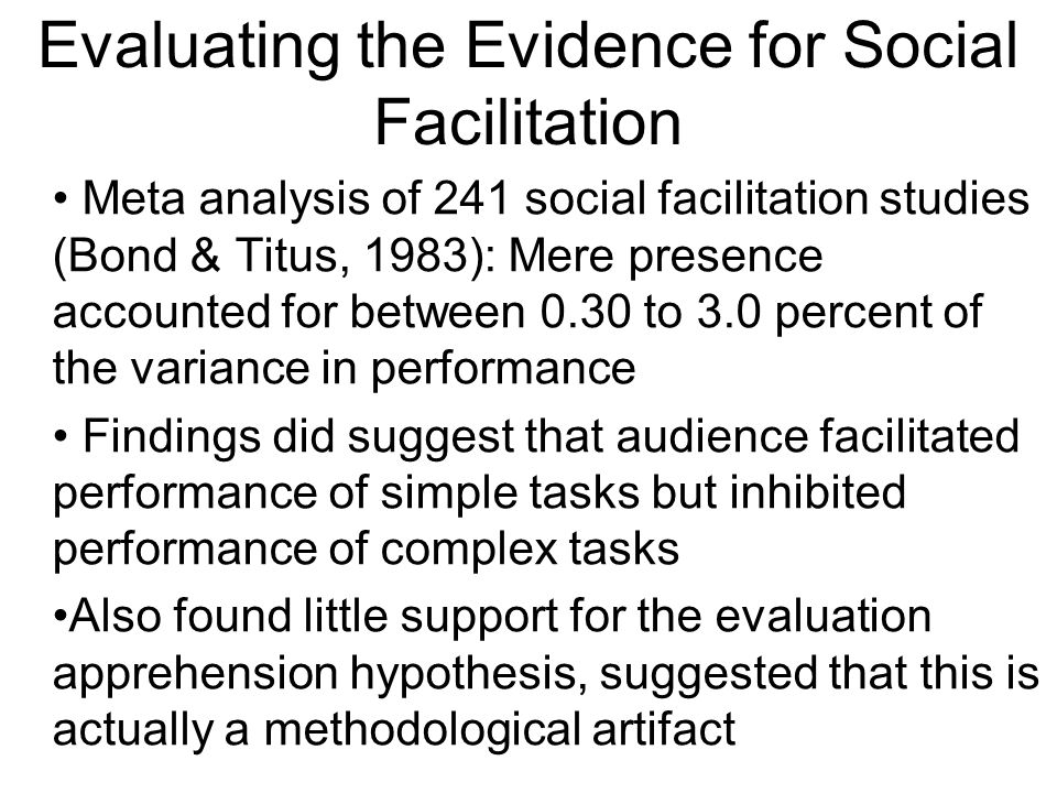 Evaluating the Evidence for Social Facilitation