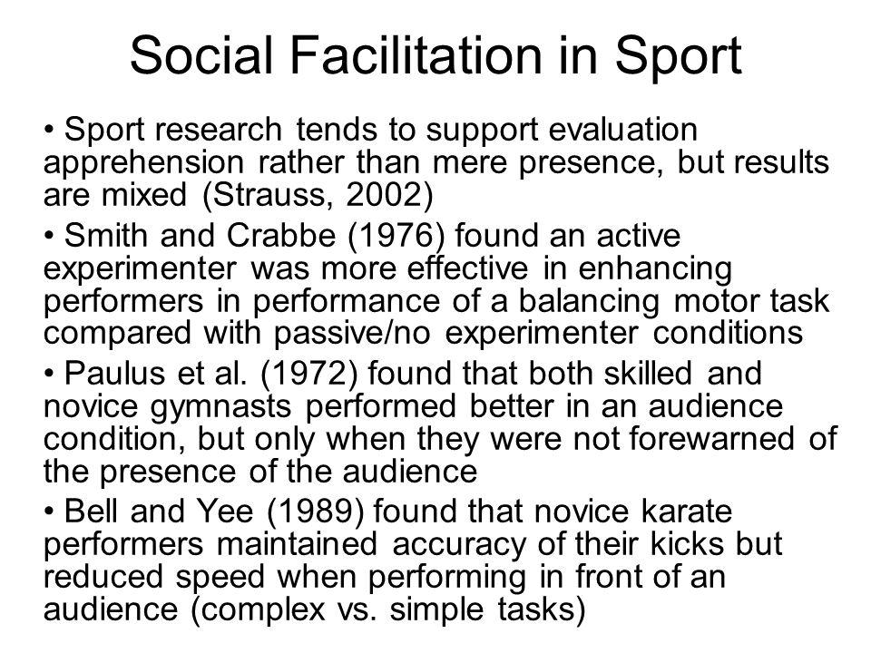 Social Facilitation in Sport