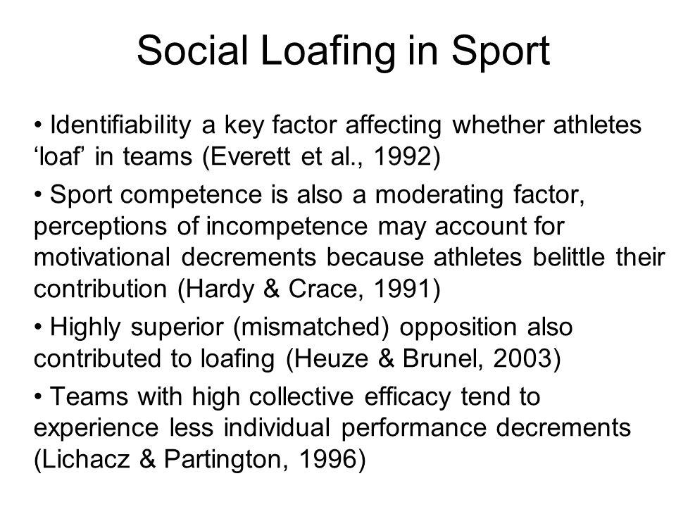 Social Loafing in Sport