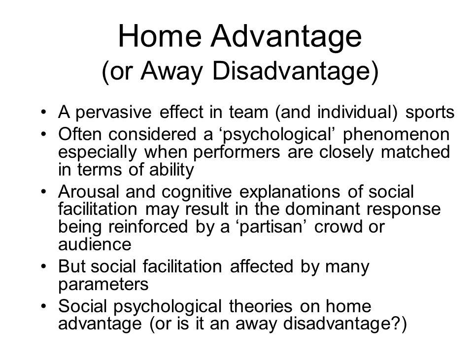 Home Advantage (or Away Disadvantage)
