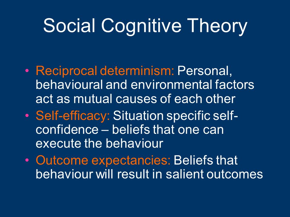 cognitive theory detailed outline O describe the relationship between social learning theory and behaviorism, and identify the cognitive elements of the theory note the basic assumptions of social learning theory, with special attention paid to the.