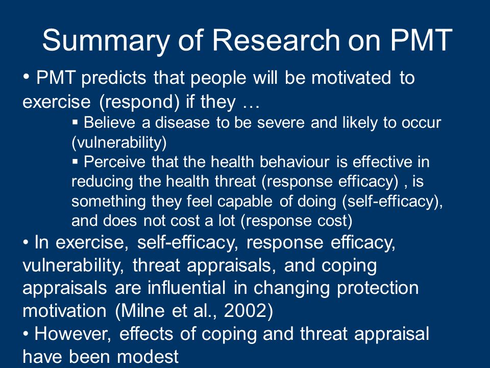 Summary of Research on PMT