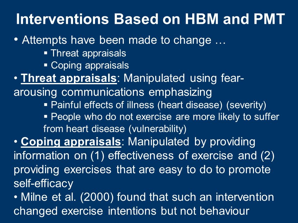 Interventions Based on HBM and PMT