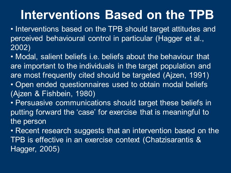 Interventions Based on the TPB