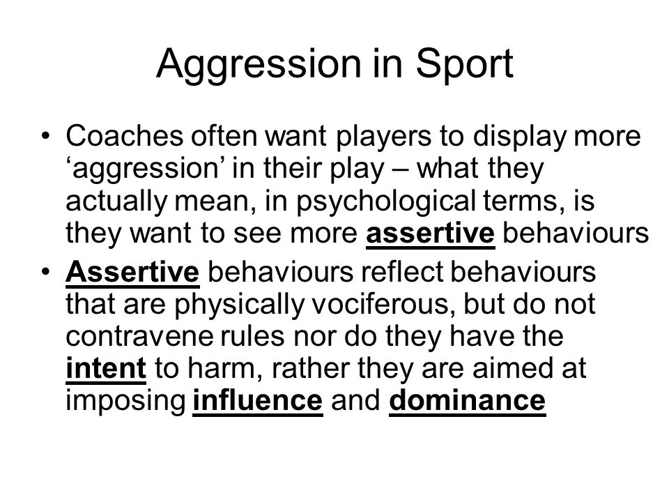 Aggression in Sport