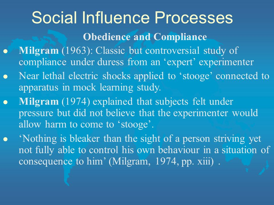 Social Influence Processes