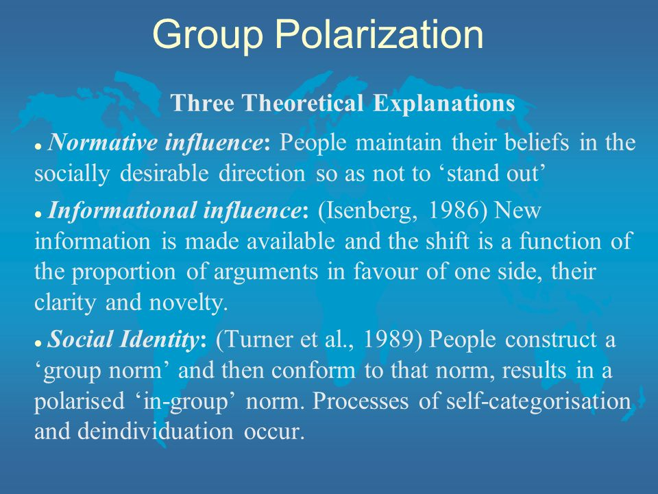 Three Theoretical Explanations