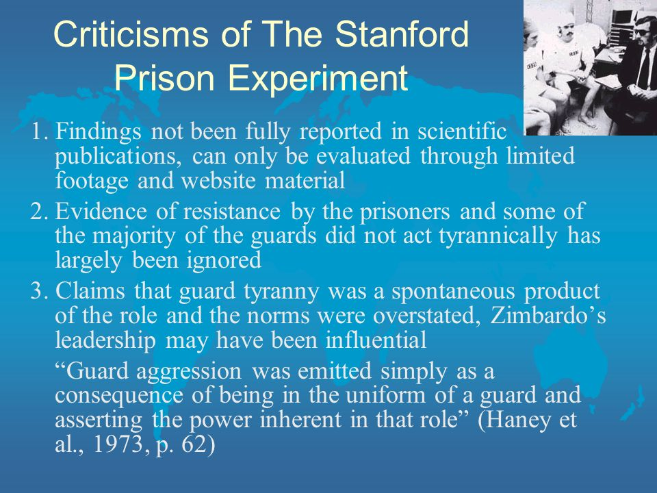 Criticisms of The Stanford Prison Experiment