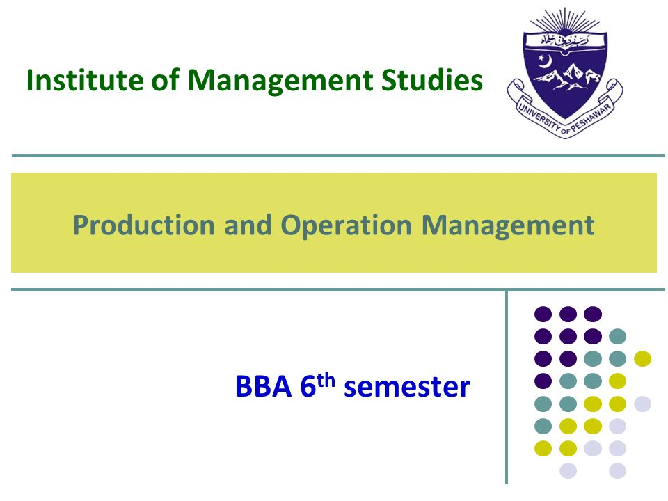 production and operation management by mmuhiyadiin