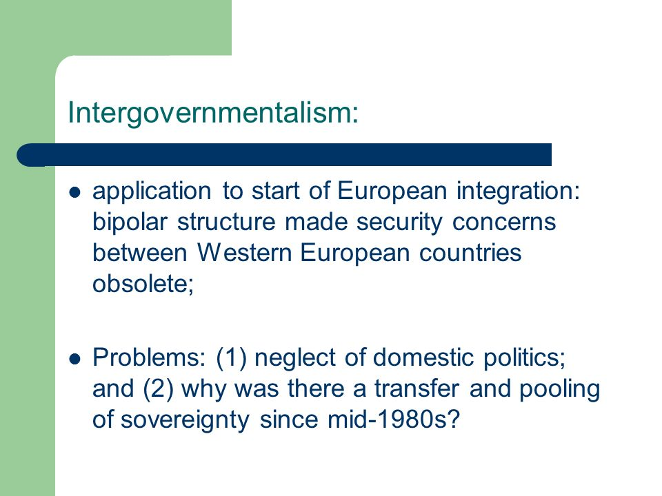 Intergovernmentalism: