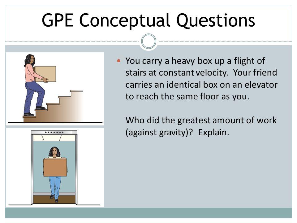 Conceptual questions