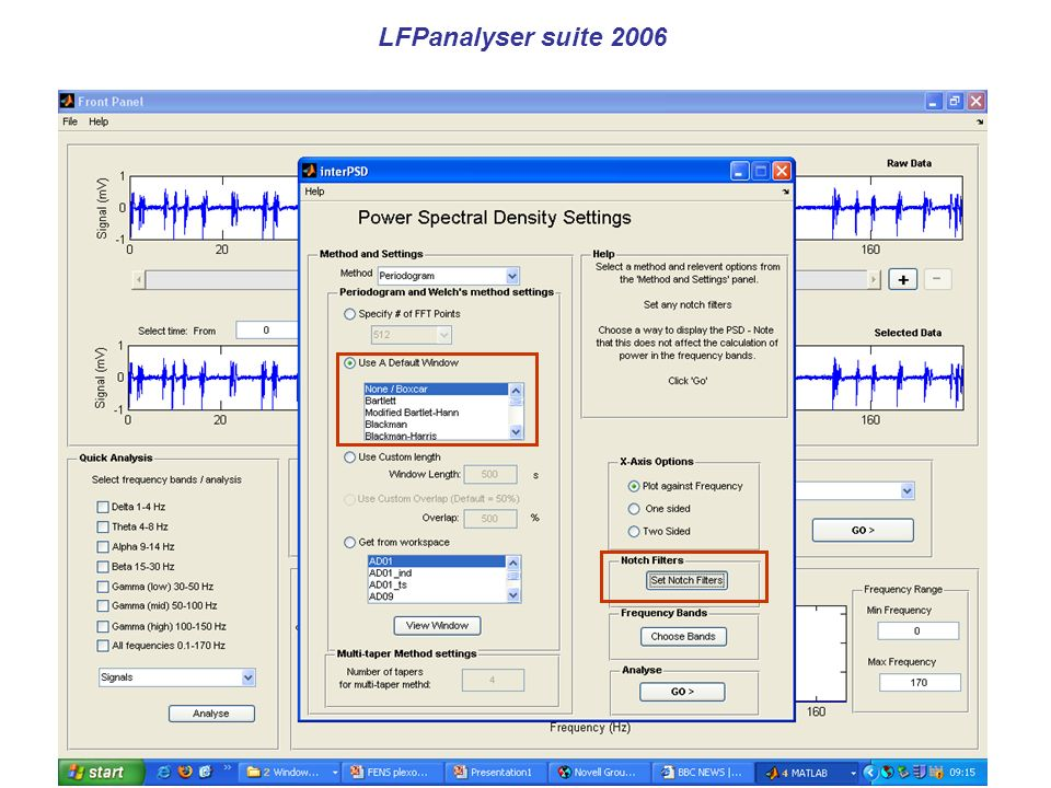 LFPanalyser suite 2006