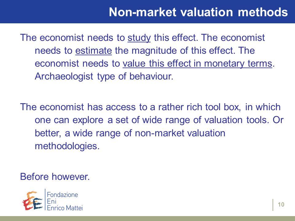 Non-market valuation methods