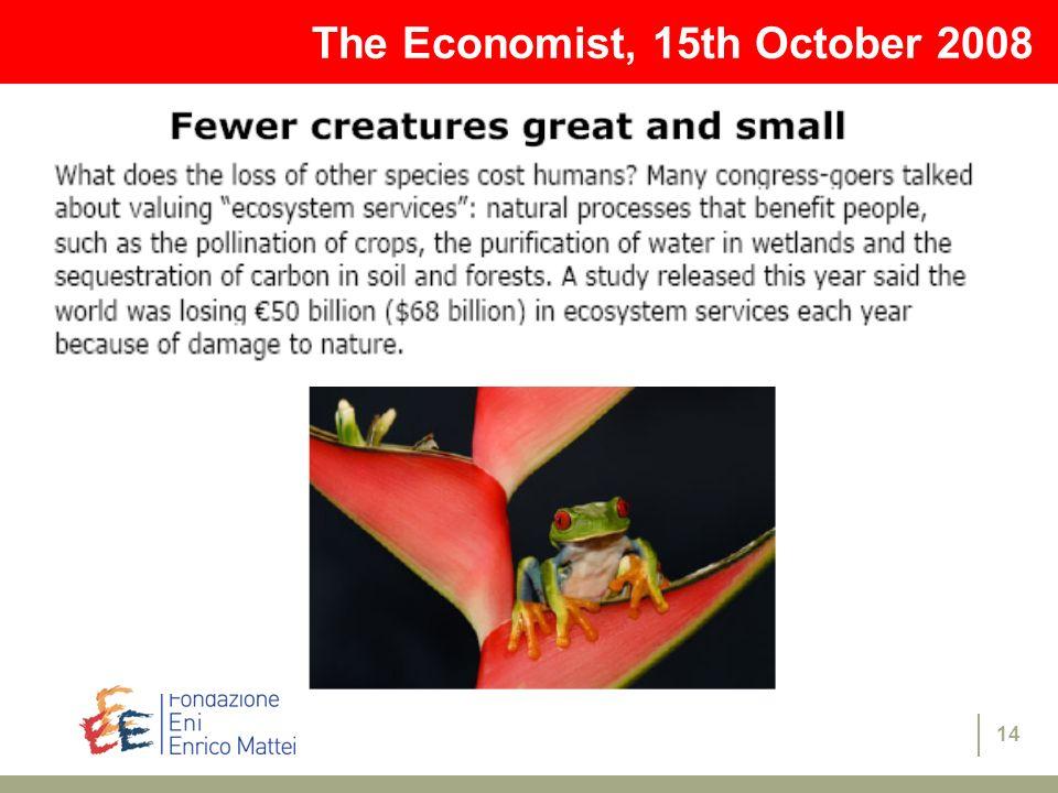 The Economist, 15th October 2008