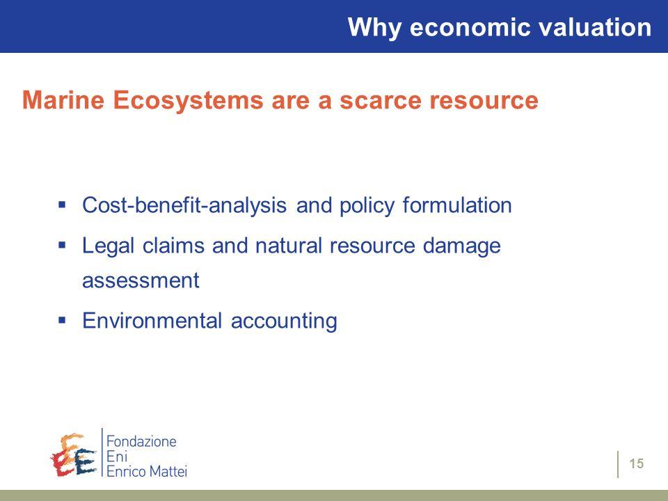 Why economic valuation