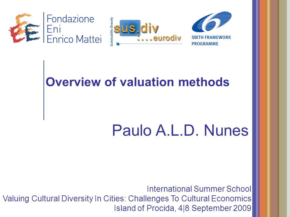 Overview of valuation methods