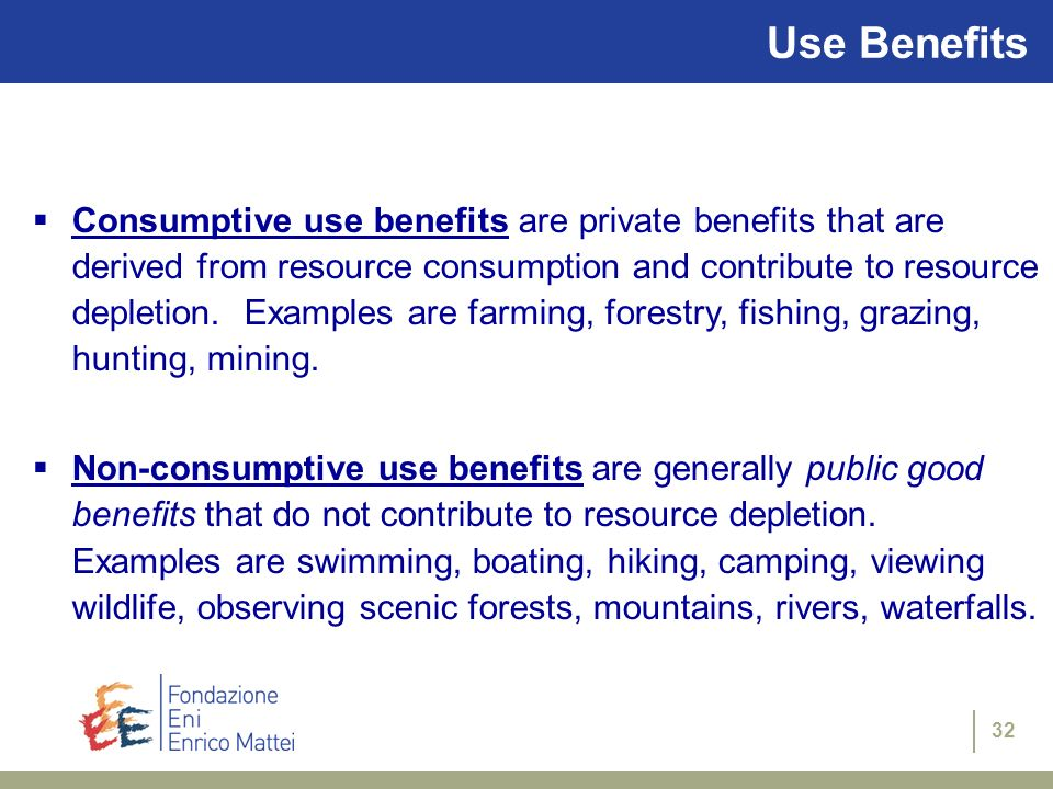 Use Benefits