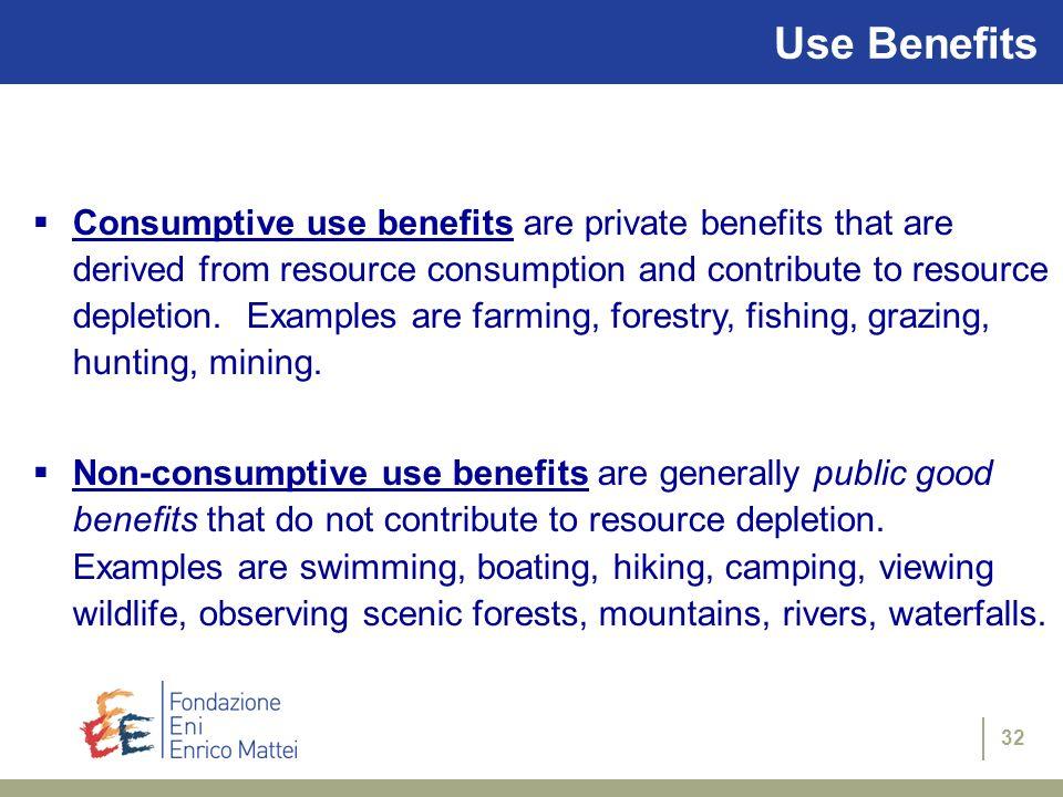 Use Benefits